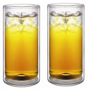 20oz Strong Durable Double Wall Glass, V3, Set of 2